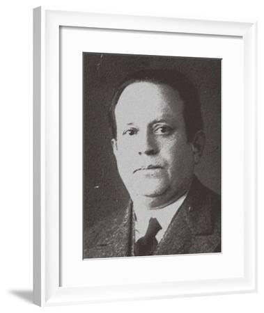 Kurt Tucholsky, 1930S--Framed Giclee Print