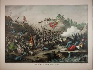 The Fort Pillow Massacre, 1892 by Kurz And Allison