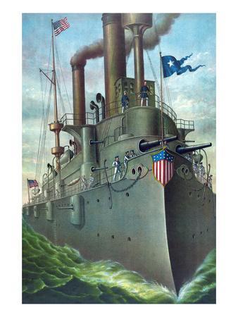 "Olympia Steel - Pittsburgh - Rear Admiral Dewey's Flagship ""Olympia"""
