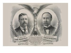Republican Candidates. for President, Theo. Roosevelt. for Vice President, Chas. W. Fairbanks by Kurz