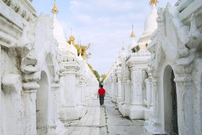 Kuthodaw Pagoda - Stupas Housing the World's Largest Book, Mandalay, Myanmar (Burma)-Alex Robinson-Photographic Print