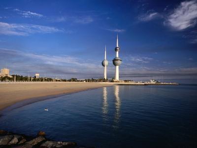 Kuwait City Water Towers on Seafront, Kuwait, Kuwait-Izzet Keribar-Photographic Print
