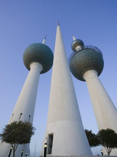 Kuwait Towers, Kuwait City, Kuwait-Walter Bibikow-Photographic Print