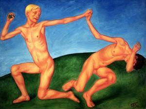 The Playing Boys, 1911 by Kuzma Sergeevich Petrov-Vodkin