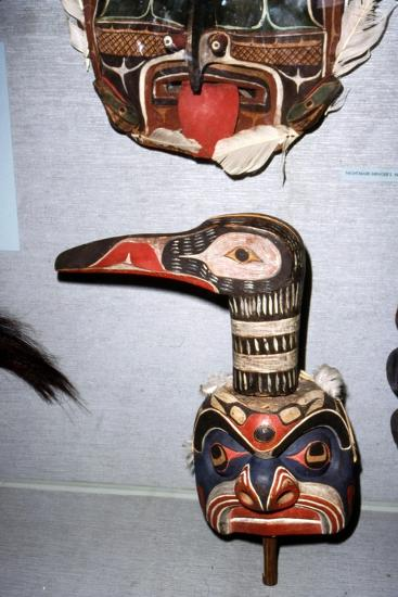 Kwakiutl Diver Mask, with beak, Pacific Northwest, North American Indian-Unknown-Giclee Print