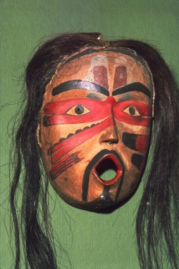 Kwakiutl Face-Mask, Pacific Northwest Coast Indian-Unknown-Giclee Print