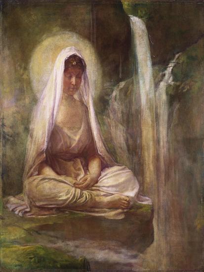 Kwannon Meditating on Human Life-William Bradford-Giclee Print