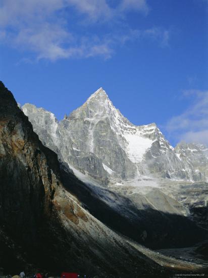 Kya Jo Ri Mountain from Machermo, Machermo, Himalayas, Nepal, Asia-Alison Wright-Photographic Print