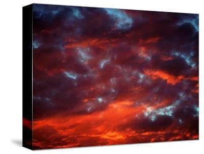Clouds in Red Sky, Truckee, CA