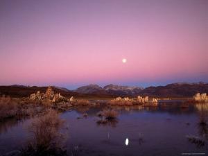 Moon Over Sierra Mountain Range, CA by Kyle Krause