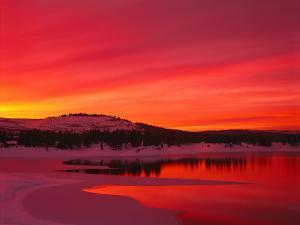 Sunset at Boca Reservoir, Truckee, CA by Kyle Krause