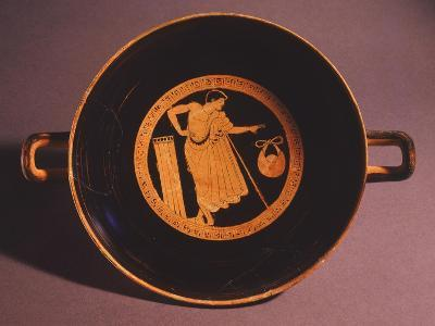 Kylix Representing Young Man with Stick--Giclee Print