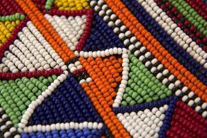 Africa, Kenya. Maasai Tribal Beads by Kymri Wilt