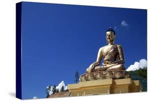 Asia, Bhutan, Thimpu. Buddha Dordenma Overlooking Thimpu by Kymri Wilt