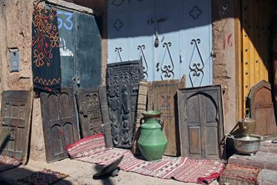 Berber Doors, Ourzazate, Morocco, Africa by Kymri Wilt
