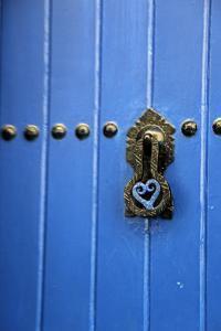 Blue Door of Kasbah of Oudaya, UNESCO World Heritage Site, Rabat, Morocco, Africa by Kymri Wilt