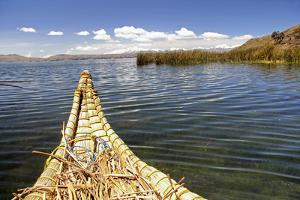Bolivia, Lake Titicaca, Reed Boat of Uros Floating Reed Islands of Lake Titicaca by Kymri Wilt