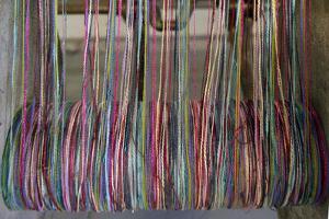 Europe, Ireland, Avoca. Avoca Handweavers Mill, County Wicklow. Woollen Threads. by Kymri Wilt