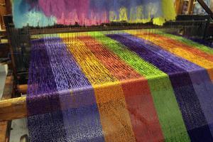 Europe, Ireland, Avoca. Avoca Handweavers Mill, County Wicklow. Woollen Weaving Loom. by Kymri Wilt