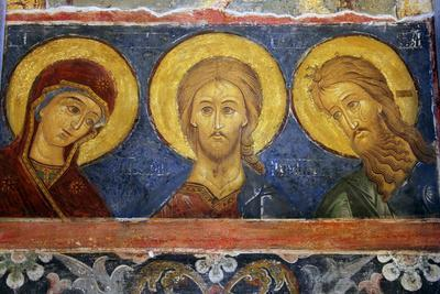 Fresco Icon in the Cathedral of the Nativity Suzdal, Suzdal, Russia