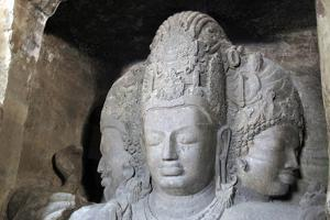 Mahesamurti of Elephant Island Caves, Mumbai, India by Kymri Wilt