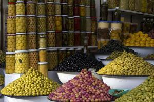 Morocco, Marrakech. Olives of Marrakech Souks by Kymri Wilt