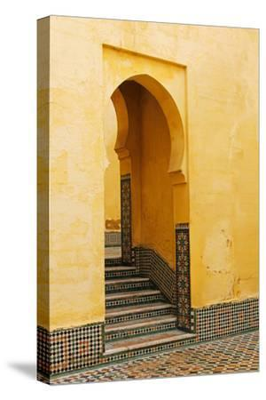 Morocco, Meknes. Mausoleum of Moulay Ismail Stairs