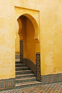 Morocco, Meknes. Mausoleum of Moulay Ismail Stairs by Kymri Wilt