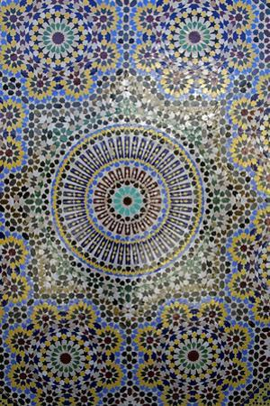 Mosaic Wall for Fountain, Fes, Morocco, Africa