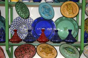 North Africa, Africa, Morocco, Marrakesh. A selection of Morrocan pottery and ceramics. by Kymri Wilt