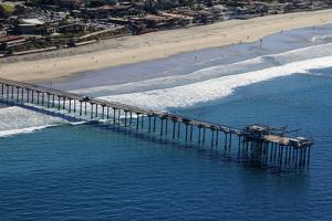 USA, California, San Diego. Scripps Pier, La Jolla Shores by Kymri Wilt