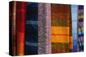 Woven Moroccan Silk Textiles and Scarves, Fes, Morocco, Africa by Kymri Wilt