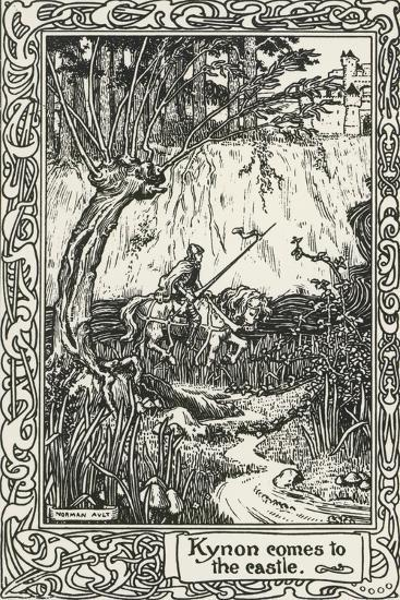 Kynon Reaching Castle from Mabinogion, Collection of Welsh Tales--Giclee Print