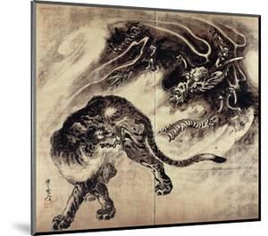 Dragon and Tiger by Kyosai Kawanabe