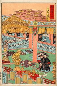 Images of the Fifteen Ashikaga Shoguns at the Toji-In in Kyoto by Kyosai Kawanabe