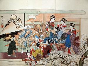Party at Yoshiwara by Kyosai Kawanabe