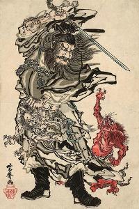 Shoki and Two Demons by Kyosai Kawanabe