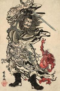 Shoki and Two Demons by Kyosai Kawanabe