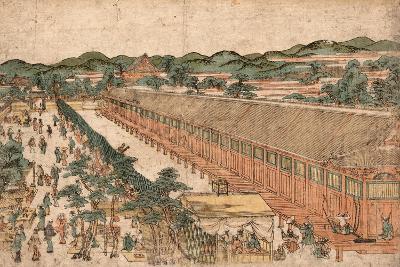 Kyoto Sanjusangendo No Zu-Utagawa Toyoharu-Giclee Print