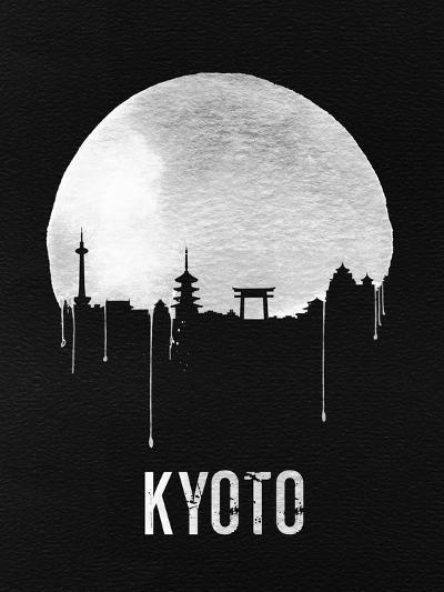 Kyoto Skyline Black--Art Print