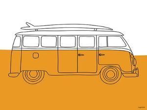 70s Orange Bus by Kyra Brown