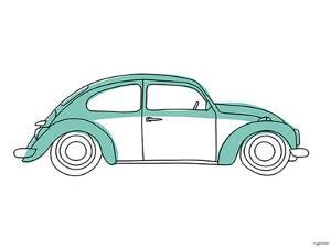 Teal Car by Kyra Brown