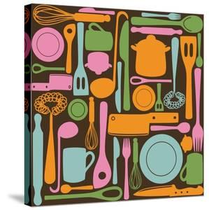 Kitchen Utensils - Seamless Pattern by kytalpa