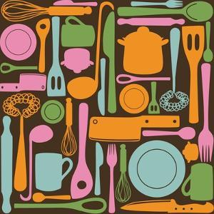 Kitchen Utensils - Seamless Pattern by kytalpa