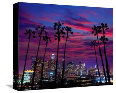 L.A. at Night--Stretched Canvas Print