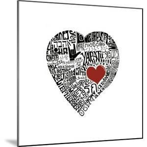 Love in 44 Languages by L^A^ Pop Art