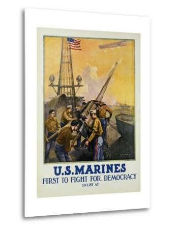 U.S. Marines - First to Fight for Democracy Recruiting Poster