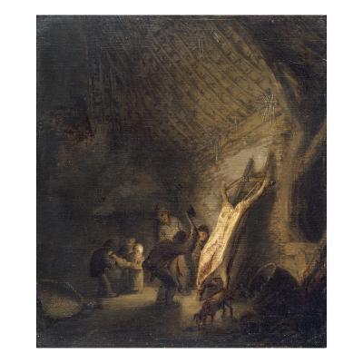 L'abattage du porc-Adrien Van Ostade-Giclee Print