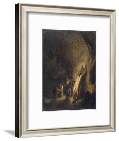 L'abattage du porc-Adrien Van Ostade-Framed Giclee Print