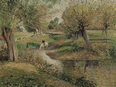 L'Abreuvoir, Eragny-Camille Pissarro-Giclee Print